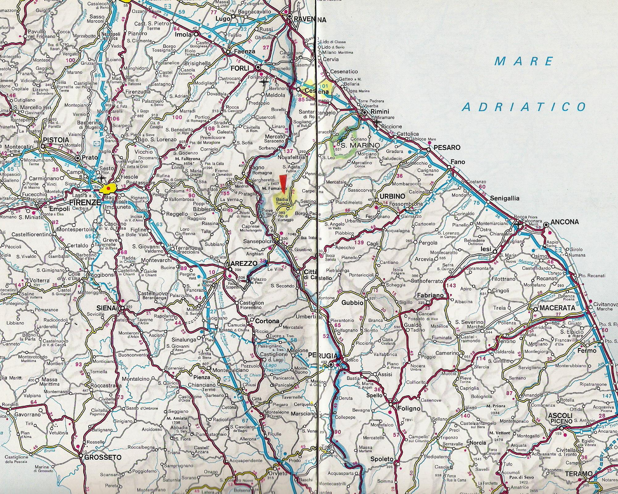 Cartina Stradale Marche Dettagliata.Borgo Ca Valdibrucia Badia Tedalda Ar